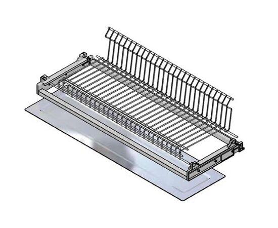 Сушка для посуды 1-уровневая в базу 900/18, отделка сталь, поддон сталь Inoxa (702/90XP601502), фото 1