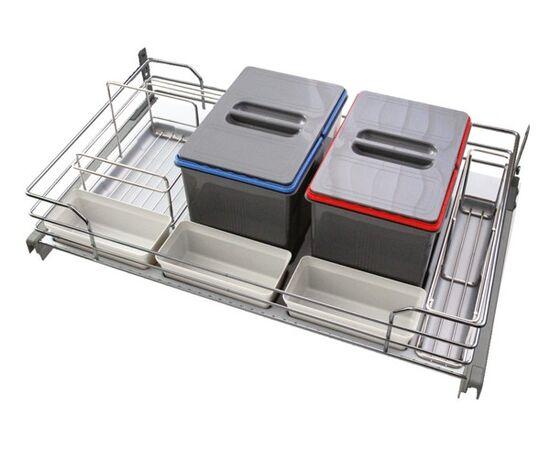 Набор емкостей в базу 1200 для бытовой химии и раздельного сбора мусора (97DB/1203D), фото 1