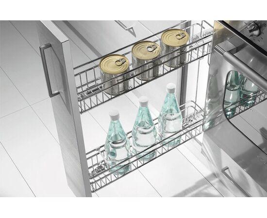 Выдвижная сетка-бутылочница в базу 150 выдвижная, отделка хром (1104/15-45PC), фото 1