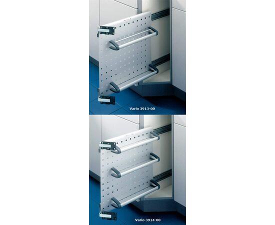 Выдвижная система Vario в скошенный выдвижной шкаф в базу 150 мм Hailo (3913-00), фото 1