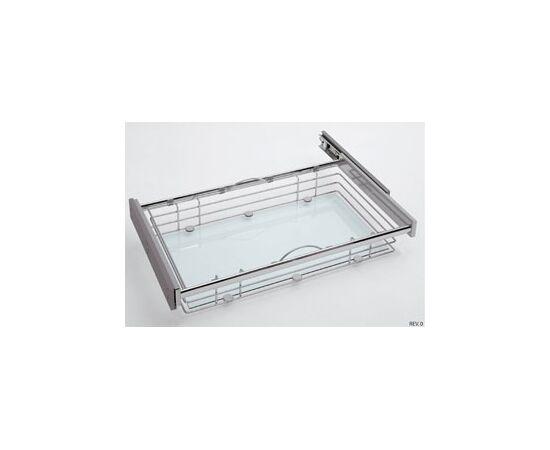 Корзина выдвижная Visual Glass, с дном из закаленного стекла, полное выдвижение с Soft-Close 900мм Sige (015V00012), фото 1