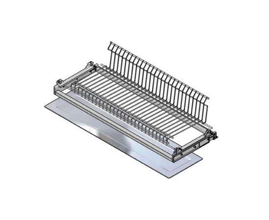 Сушка для посуды 1-уровневая в базу 600/16, отделка сталь, поддон пластик Inoxa (702/60XP502F16), фото 1