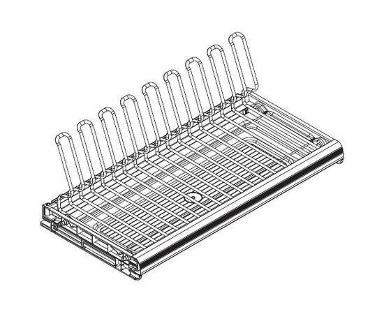Сушка для посуды Ellite 1-уровневая в базу 600/16, отделка хром, поддон пластик (716KITP60XC516-16), фото 1