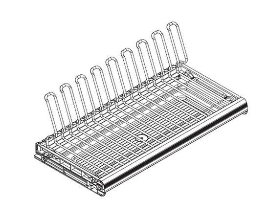 Сушка для посуды Ellite 1-уровневая в базу 800/16, отделка титаниум, поддон пластик (716KITP80XT516-16), фото 1
