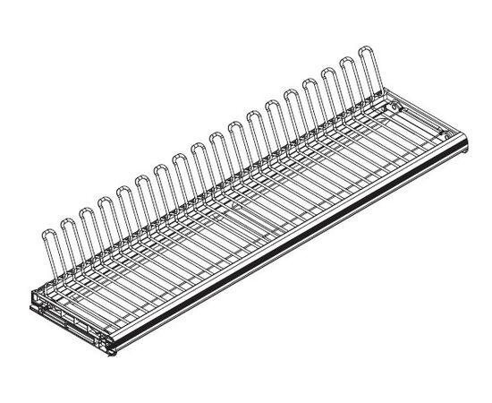 Сушка для посуды Ellite 1-уровневая в базу 1200/16, отделка титаниум,поддон сталь (716KITP120XT516-16), фото 1