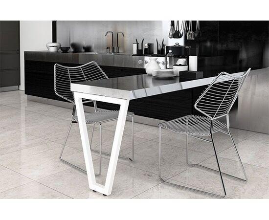 Опора для стола V-образная Лиссабон-Т l.550, h.720, отделка белый бархат (матовый) (ОП10Т-72R.9010), фото 2