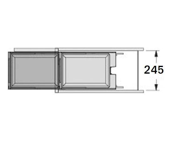 Выкатное мусорное ведро Solo, ширина базы 400 мм, синхронное выдвижение с фасадом Hailo (3636-01), фото 4