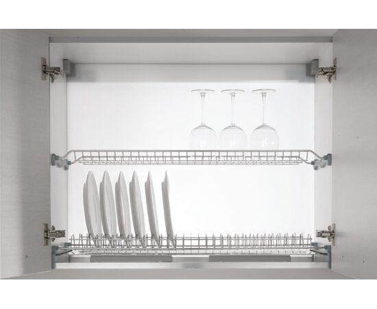 Сушка для посуды 2-уровневая в базу 450/18, отделка сталь Inoxa (701/45XP-18), фото 1