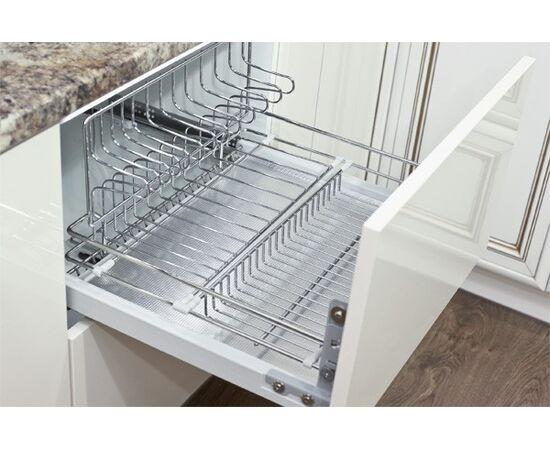 Сушка для посуды выдвижная в нижнюю базу 450, с доводчиком, отделка хром, Inoxa (1703Y/45-45PCP), фото 1