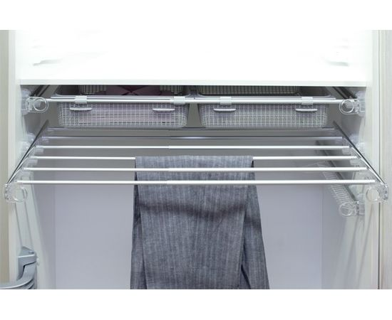 Рамка выдвижная с держателями для брюк, 570-1000мм, отделка алюминий полированный + транспарент (PORPANEXT), фото 1