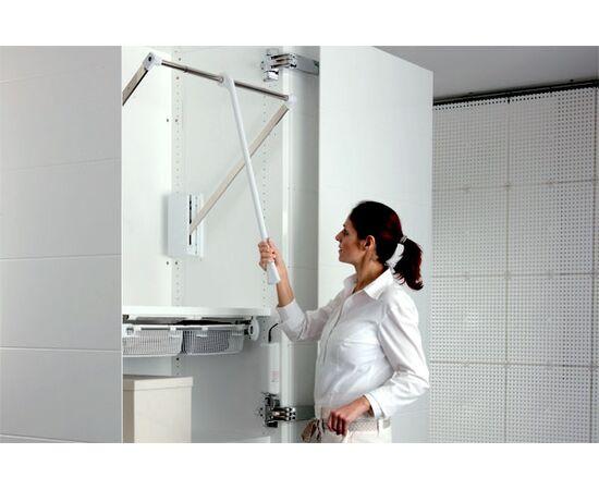 """Лифт пантограф для одежды, отделка белая + никель ARMADIO"""" (SE08LA400), фото 1"""