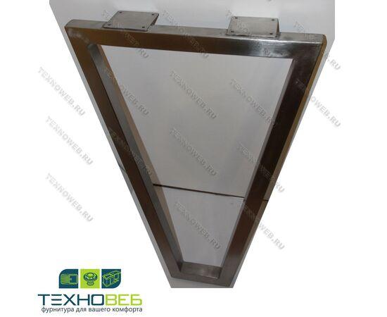 Опора для стола лофт из нержавеющей стали V-образная l.550, h.870, фото 1