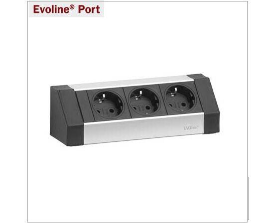 Розетка угловая EVOline® V-Dock CUSINE модуль на 3 розетки (936.00.013), фото 1