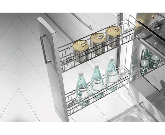 Выдвижная сетка - бутылочница  INOXA GOLD в базу 150 выдвижная с доводчиком, отделка хром (1104Y/15-50PC), фото 1