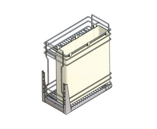 Выдвижная сетка-бутылочница INOXA EASY в базу 300 с мешком, отделка хром (105R/30-45PC), фото 1