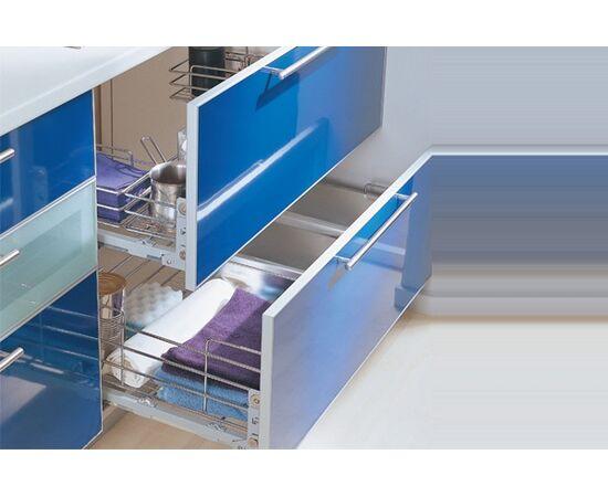 Выдвижная П-образная сетка под мойку INOXA EASY в базу 900 , отделка хром (207/90-45PCFD), фото 1