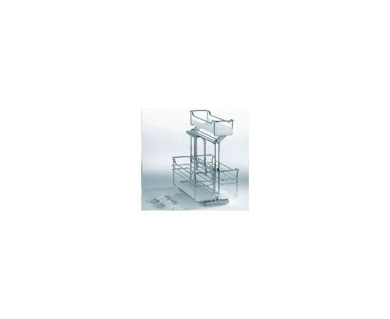 Портеро kessebohmer контейнер Портеро для хозпренадлежностей с тремя емкостями, 274х495х507 (00 5153 0005), фото 1