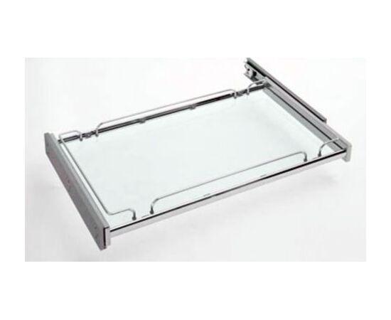 Полка выдвижная Plano Glass, со стеклянным дном, полное выдвижение с Soft-Close 1200мм Sige (01400022), фото 1
