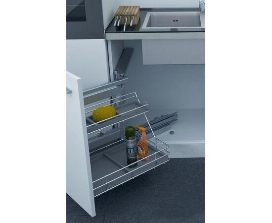 Выдвижная система под мойку Shelf Plastic 500 мм левая из пластика Sige (704001S12), фото 1