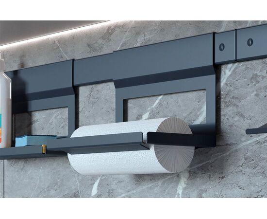 Держатель для бумажных полотенец, 256х150х197 мм, отделка черный бархат (матовый) (2A.3010.9005), фото 1
