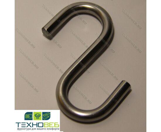 Крючки одинарные на рейлинги для кухни, нержавеющая сталь, глянцевый (Техновеб), фото 1