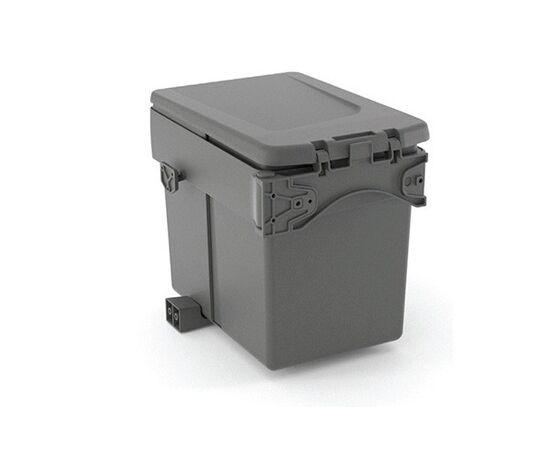 Ведро для мусора (15л), пластик темно-серый (820110111), фото 3
