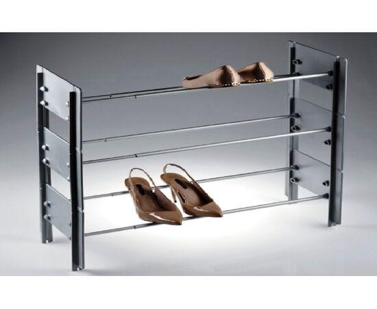 Подставка для обуви металлическая телескопическая CIP, 580 - 900 мм, серый Servetto, фото 2
