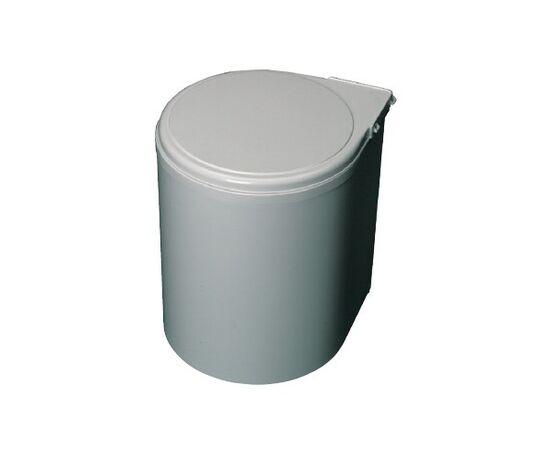 Ведро для мусора (13л), пластик серый металлик (6.270.MT), фото 2