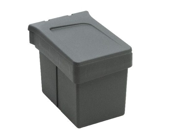 Ведро для мусора (15л), пластик темно-серый (820110111), фото 2
