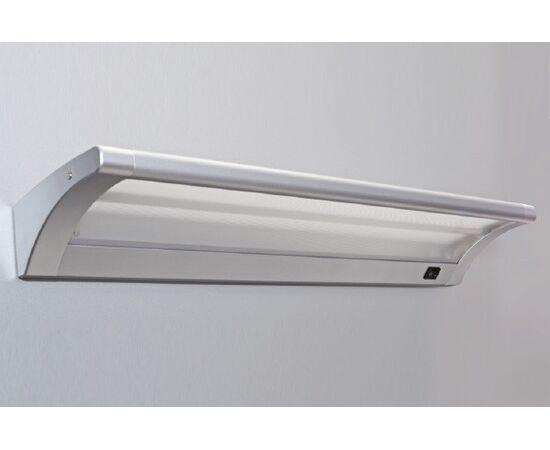 Накладной линейный светильник на стену, люминесцентный 13W/220-240V, 2700K, отделка под алюминий, фото 2