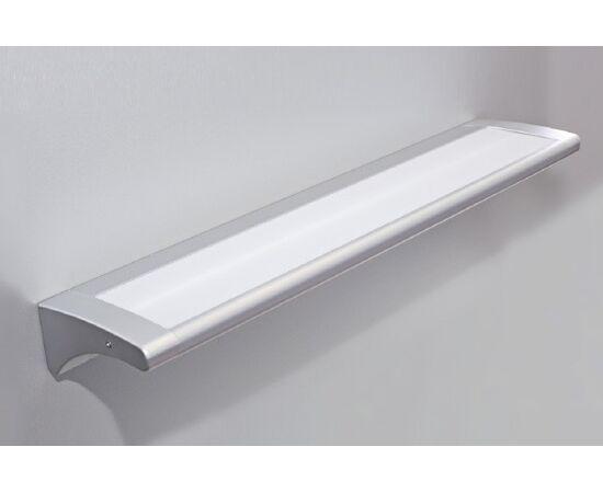Накладной линейный светильник на стену, люминесцентный 13W/220-240V, 2700K, отделка под алюминий, фото 1