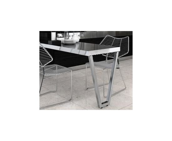 Опора для стола V-ОБРАЗНАЯ ЛИССАБОН, l.560, h.870 серебро бриллиант (ОП10-87R.0393), фото 2