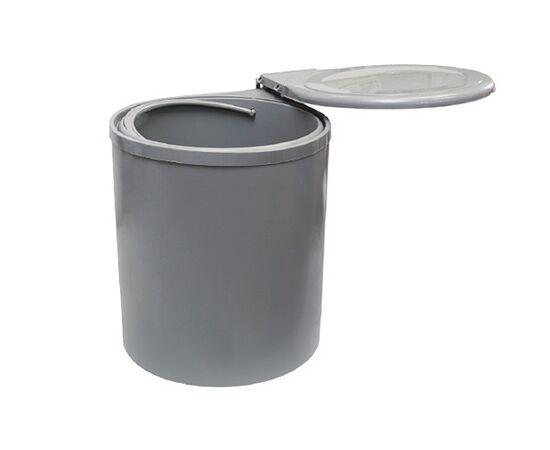 Ведро для мусора (11л), пластик серый (97G), фото 3