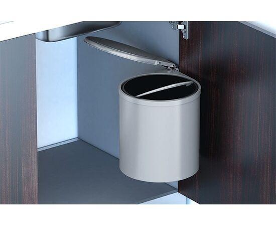 Ведро для мусора (11л), пластик серый (97G), фото 2