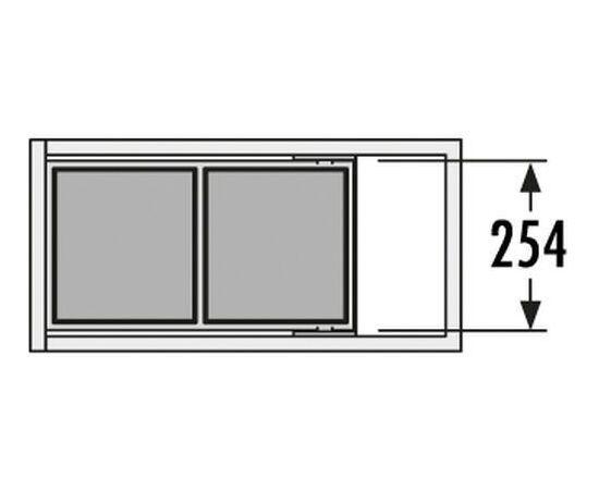 Мусорное ведро встраиваемое в выдвижной ящик с релингами шириной 300 мм - Tandem Hailo (3663-10), фото 4