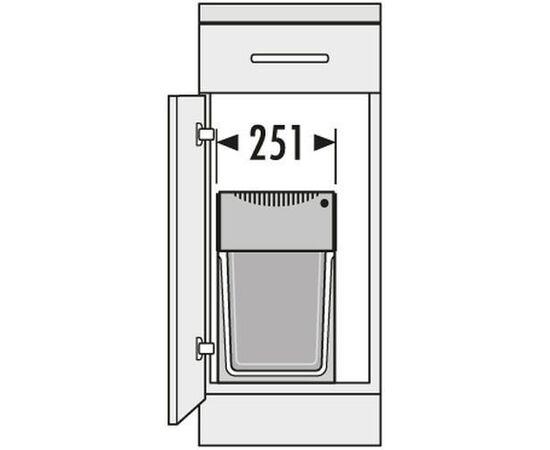 """Система сортировки мусора, хранения """"Tandem"""", в базу 300 мм Hailo (3666-11), фото 3"""