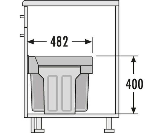 """Система сортировки мусора, хранения """"Tandem"""", в базу 300 мм Hailo (3666-11), фото 4"""