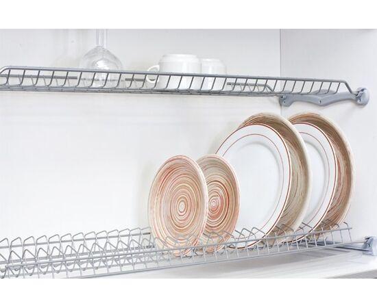 Сушка для посуды 2-уровневая в базу 600, без рамки, отделка серая Inoxa (701/60GPM), фото 1