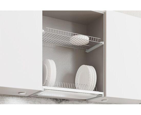 Сушка для посуды 2-уровневая в базу 800, с рамкой, отделка сталь нержавеющая VIVA (DRB.21F/80SST), фото 1