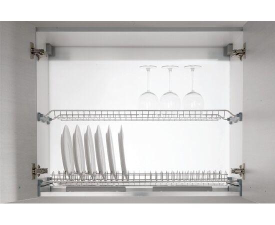 Сушка для посуды 2-уровневая в базу 400/16, отделка серая Inoxa (701/40GP-16), фото 1