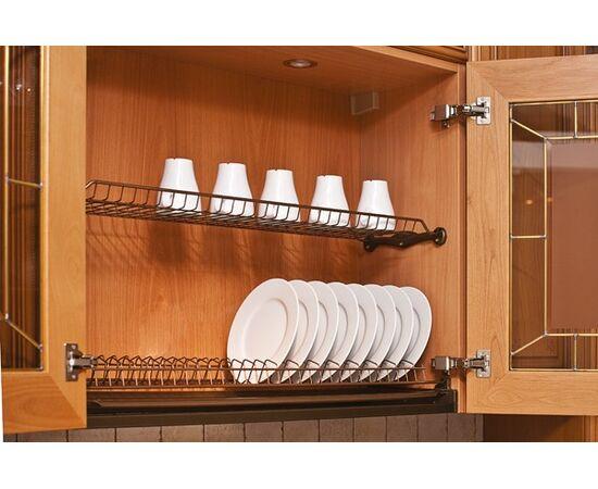 Сушка для посуды 2-уровневая в базу 600/16, отделка бронза Inoxa (701/60ZOTP-16), фото 1