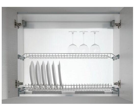 Сушка для посуды 2-уровневая в базу 700/16, отделка сталь Inoxa (701/70XP-16), фото 1