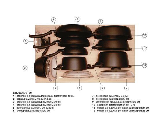 Ёмкость Casseto в ящик 900, с набором посуды (12 предметов), бук (90.15/BT50), фото 1