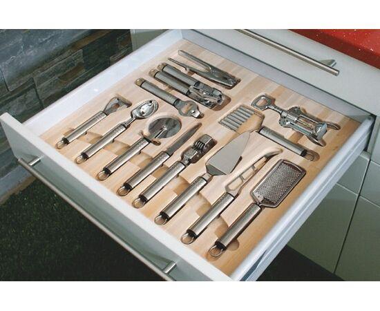 Ёмкость Casseto в ящик 600, с кухонными приборами (13 предметов), бук (60.01/N/BT50), фото 1