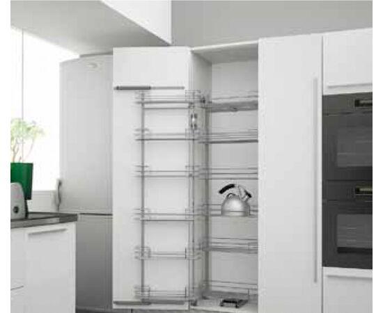 Выдвижная система для высокого шкафа с 12-ю корзинами МДФ DUO-12, 450мм, высота 1850-2200 мм Sige (230AI00112), фото 1