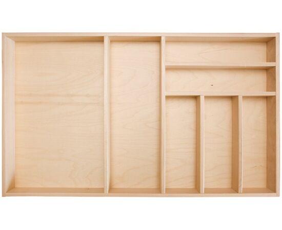 Ёмкость в базу 900 для столовых приборов (под 2 вставки), отделка бук CURVE (PP090B1N), фото 1
