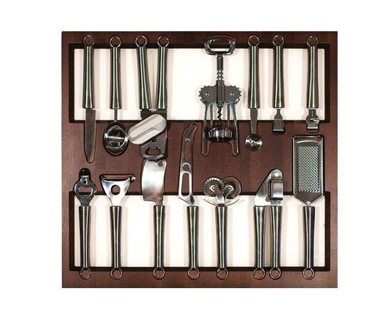 Вкладка в ящик 600, с кухонными приборами (14 предметов), венге Q-Line Vetro (WQV60.1/HTCH47), фото 1