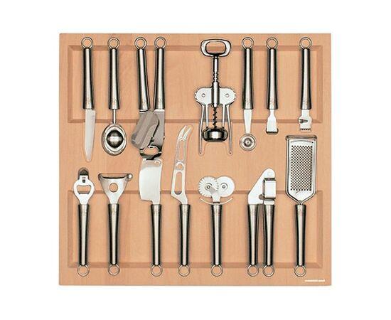 Ёмкость в базу 600, с кухонными приборами 14 предметов, бук Q-line (Q60.1/BT50), фото 1