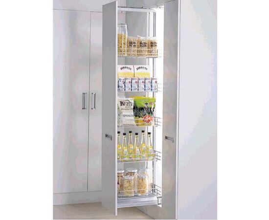 Выдвижной кухонный пенал 300мм, H=1400-1700мм 5 полок Amix (PTJ012F-300), фото 1
