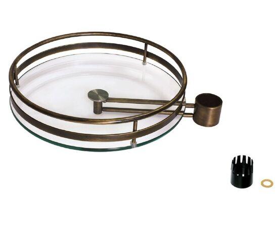 Полка круглая стеклянная барная на кронштейне, отделка под бронзу (SCT550VOA), фото 1